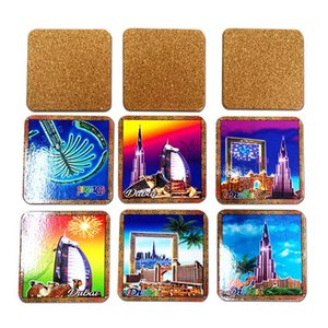 Custom Cork Absorbent Coaster Engraved Hollow Non-Slip Heat-Insulated Placemat Customized Any Shape Digital Printing Mats&Pads DHC830