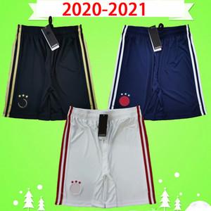 AJAX 2020 2021 Fußball-Shorts 20 21 zu Hause weg weiß 3. dritte Fußball Hose schwarz, weiß, blau DE JONG TADIC DE LIGT ZIYECH
