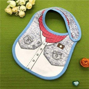 High Quality INS Styles 0-3 years Festival Bib Newborn Baby Gentleman Bib Cotton Christmas Infant Accessories