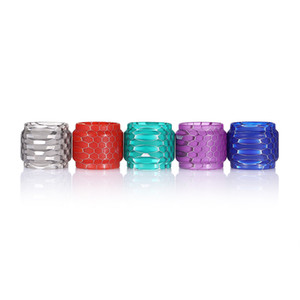 Resin Replacement Tube Caps Capacity Honeycomb Cobra Tube Drip Tip For TFV12 Prince Tank Glass DHL Free