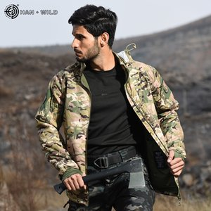 HAN WILD Men's Military Tactical Jacket Warm Windbreaker Bomber Jacket Camouflage Hooded Coat US Army Waterproof Chaqueta Hombre