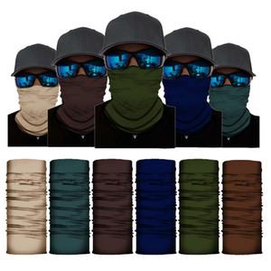Écharpe Color Magic solide Bandanas transparente Balaclava Femmes Hommes Visage Masque cou chaud Outdoor Sun UV coupe-vent Foulard