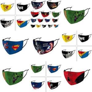Nós, crianças máscara Stock Designer Máscara Facial equitação Frio Protecção New Spiderman Superhero Criança Máscara Máscaras Escudo Capitão Punisher algodão
