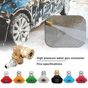 Power Washer Pivoting Coupler 1 4inch Plug Car 180 Degrees Brass Replaceable Accessories Spray Nozzle Tips Quick Connecting