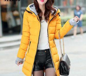 NEEDBO Long Down Jacket Women ultra Light Down Coat Winter Oversize Winter Autumn Warm Puffer jacket Coat Lady11