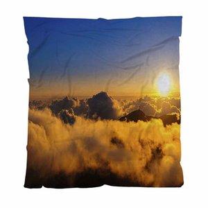 Nuvens quentes flanela velo Toalha Cobertores Sunrise Over The Clouds Lightweight Quente manta para sofá-cama Sofá Viagem Outdoor
