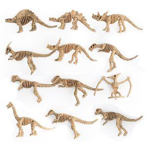 12pcs lot Dinosaur Model Toys Simulation Dinosaur Skeleton Kids Science & Education Toys Gifts for Children