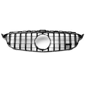 C CLASS W205 Racing grille ABS Material Grille For C CLASS 2015-2018 Replacement Front Grille Front Bumper
