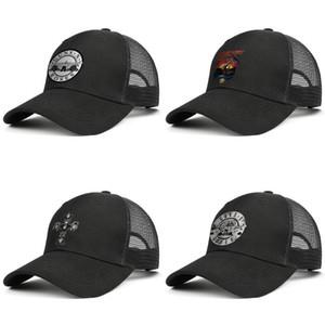Guns N' Roses Decal Sticker Adjustable Trucker Cap Fashion Baseball Hat Vintage Dad Ball Caps for Men Women Bullet Logo Graphic Cross by