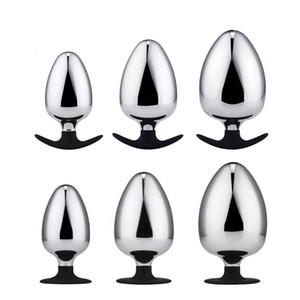 Dia 60 70 80 mm Huge Metal Butt Plug Anal Plug Big Anal Balls Expansion Dilatador Anal Toys For Couples Men Women Gay T200915