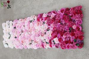 SPR 2.4 * 2.4m Бесплатная доставка свадьба ломбера цветок стены белый розовый красный свадебный фон искусственный цветок ряд арка декоративный Flore