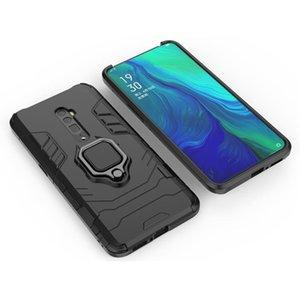 2 en 1 Armure de luxe antichocs Hard Case Holder pour OPPO Reno 10 * Porte-anneau magnétique Téléphone Case