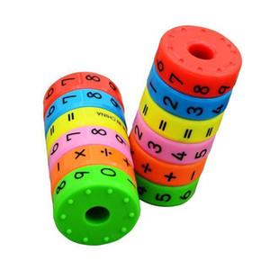 Детских Math Обучение Игрушки Студент Мини Обучающий Магнитный Гидроцилиндр рукоять головоломка номер игрушка Рассчитать Learn Counting