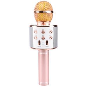 Bewegliches neu WS858 Bluetooth Karaoke-Mikrofon-Wireless-Lautsprecher Heim KTV Handmikrofon mikrofon Studio Tonstudio