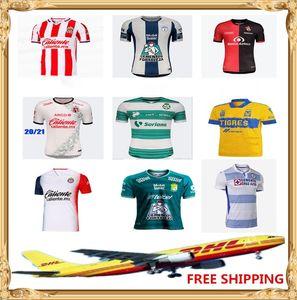 DHL frete grátis 2020 2021 Tijuana Laguna Chivas Tigres UANL Soccer Jersey 20 21 Puebla FC Pachuca CF Atlas FC Football Shirt Tamanho S-XXL