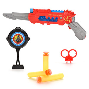 Magic Deformation Projection Playing Role Pistol 2in1 Sound Light Toy Sword Gun Child Boy Knife Simulation Toy Weapon Shooting Wprpb