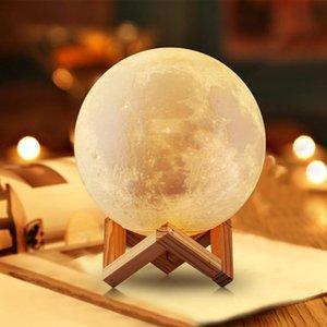 3D balon baskı ay lamba dokunmatik kumanda 2 renk gece lambası yaratıcı hediye aile odası dekor çocuklar