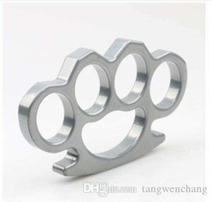 Cgjxs New aço inoxidável chaveiro prata, eo bronze fino preto Aço Knuckle Dusters auto -Defense Chaveiros