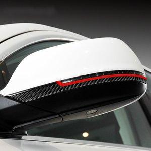 Car Décoration en fibre de carbone Rearview Mirror Anti-rub Inserts autocollants pour voiture Styling Audi Q5 Q7 Accessoires Sq5