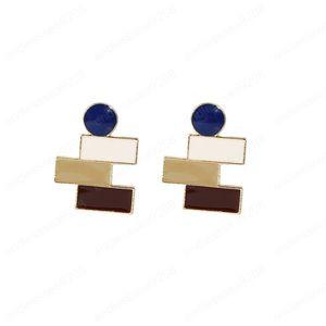 Ювелирные изделия Горячих мод S925 Серебряных серьги Глазированного Контраст Цвет Геометрических сереги