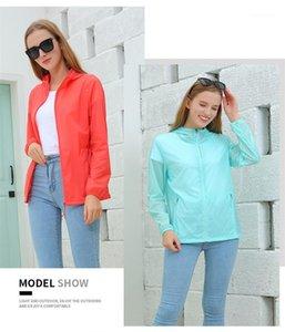 Con cerniera e tasca Womens Fashion giubbe Mans Coppia cappotti estate necessaria Sun Indumenti protettivi Solid