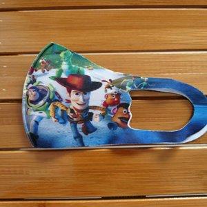 Miúdos dos desenhos animados 10pcs Mask Facecover Boca Proteção Character crianças enfrentam Boca Face Face tapaboca Nose Moda pKAFT BDE2011