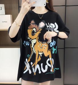 2020 Summer Fashion Design Men Women Graffiti Cartoon Print Short Sleeve T-Shirt Girls Loose Cotton T-Shirt Bottoming Shirt
