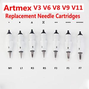 Artmex V6 V8 V9 V11 MTS PMU Needle Cartridges for Permanente Makeup Tattoo Machine Eyebrow Eyeliner Lips Pen