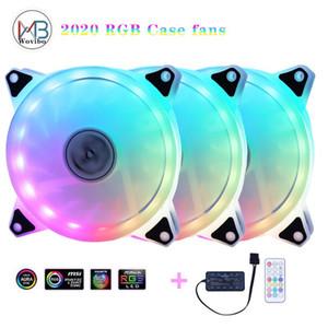 120 мм Корпус вентилятора Cooler PC охлаждения RGB вентилятора кулера Регулируемый цвет PWM RGB Скорость с выносными вентиляторами Control Mute Computer Case