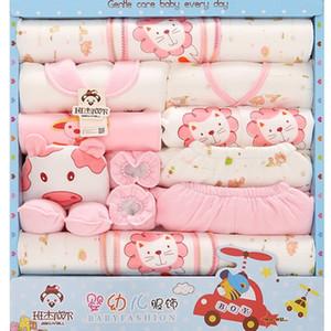 18 peças conjunto de roupa do bebê Crianças de algodão recém-nascido Roupa Baby Gift Box Lion Vestuário Infantil Equipamento do bebê recém-nascido Roupa Box