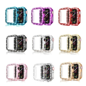 Protector Cases For Apple Watch Gen 2 3 4 5 Diamond Electroplating PC Accessories 9 Colors Wearable Technology