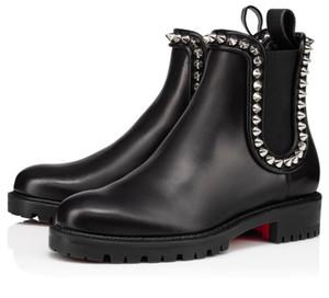 Famosi stivali di fondo rossi femminili invernali famosi Capahutta caviglia stivali in pelle nera lugina di lusso Suola di alta qualità marche di alta qualità stivaletti a suola da festa