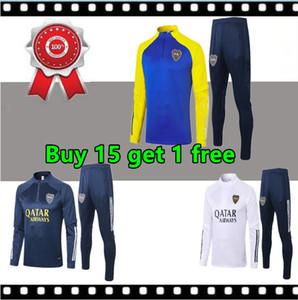 20 21 BOCA JUNIORS Футбольная куртка для отдыха Выжитие 20 21 De Rossi Gago Boca Junior Футбольная куртка Тренировочный костюм Jogging Set Chandal
