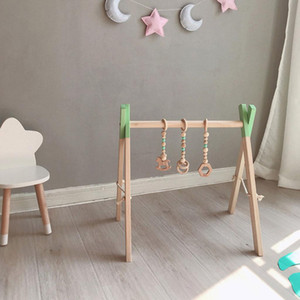 Nordic Baby Gym Play Nursery Sensory Ring-pull Toy Wooden Frame Infant Room Toddler Clothes Rack Gift Kids Room Decor