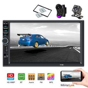 "2din Car Radio 7"" HD Touch mirror link Autoaudio Multimedia Player MP5 Player Autoradio Bluetooth Rear View Camera tape recorder"