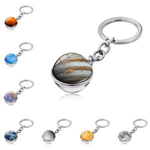 Девять планетов Планета Время GEM Bearchain Стекло Кабошон Бар Подвеска Ключ Кольцевая Сумочка Висит Мода Украшения Подарок