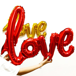 Love Shaped Foil Balloons Party Decoration Love Shaped Balloons Valentine's Day Wedding Birthday Decor Balloon Red Gold Balloons BH0932 TQQ