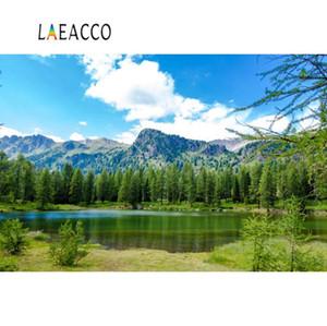 Природные обои Горное озеро дерево Forest Green Grass Blue Sky Пасмурная Scenic Фотография фоны Фотозвонки Photo Studio