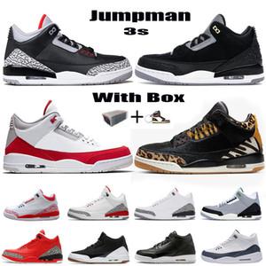 New Jumpman 3 Мужские Баскетбольные Обувь 3S Джинсовая Огонь Красный Вариант Королевский Лазерный Оранжевый Животный Инстинкт Ретро UNC Красные Цементные Кроссовки