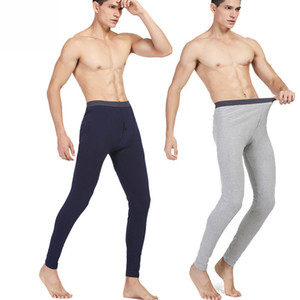 Hot Sale Men Cotton Thermal Pants Leggings Thin Heating Long Johns Sets Male Solid Warm Underwear Pants
