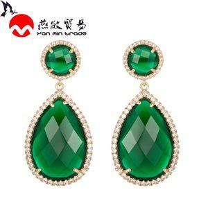 New Fashion Water Dangle Drop Korean Earrings For Women Geometric Luxury K9 Crystal Glass Earring Wedding 2020 kolczyki Jewelry