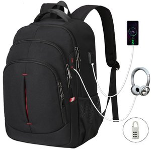 impermeable moda mochila de viaje de negocios de XQXA los hombres, bolso de múltiples funciones del ordenador portátil 15,6 pulgadas
