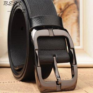 New High Quality Leather Belt Designer Belts Men Pin Buckle Black Business Trouser Strap Cinturones Hombre Cinto