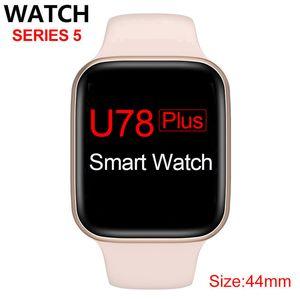 U78 Plus Смарт серии смотреть 5 1to1 44мм Bluetooth вызова Музыкальный плеер SmartWatch Siri Voice Control Спорт сна браслет диапазона для Android IOS
