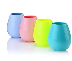 Silicone Wine Glass Stemless Beer Mug Outdoor Cup Wine Glass Recyclable Drinking Cups Picnic Cup Wine Water Beer Glass