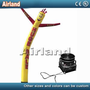 4m / 6m tubo inflable hombre inflable del aire Desarrollado bailarina impresión personalizada de publicidad que agita bandera ondulada de marionetas hombre