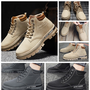 NEW Fashion Man Martin Boots Casual shoes Sneakers leather shoes short autumn winter ankle fashion Man boots Martin Roman Cowboy Eu:39-44 06