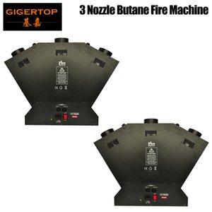 2pcs lot 3 teste macchina del fuoco Macchina tripla fiamma proiettore Controllo fiamma / DMX per la festa nuziale fase Effetti discoteca