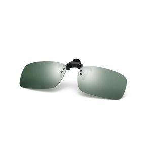 DOKLY Vintage Mirror Polarized Sunglasses Men Night Vision Lens Polaroid Sun Glasses Flip Up Clip On Sunglass Outdoor Goggles