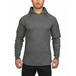 Active Hoodies with Pocket Autumn Mens Designer Solid Sweatshirts Fashion Sports Zipper Pullover Apparel Long Sleeve